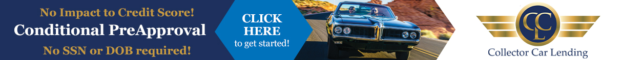 Get Pre-Approved with Collector Car Lending today!